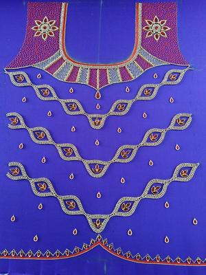 Embroidery work for blouses