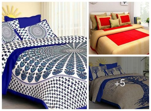 multicolored-queen-size-cotton-bed-sheet