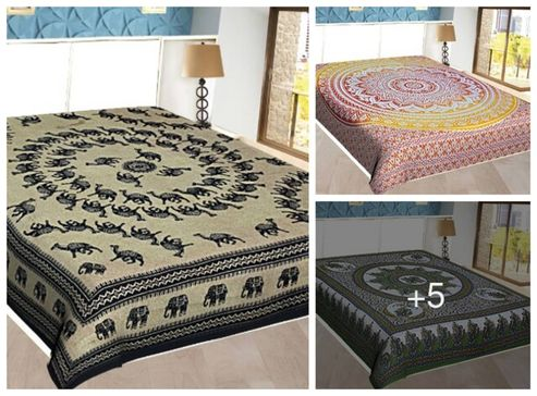 exotic-printed-cotton-double-bed-sheet