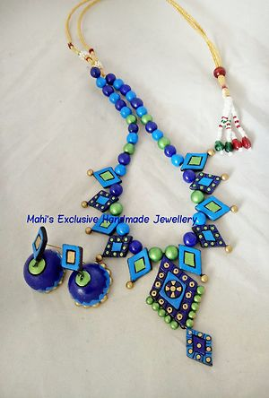 Handcrafted terracotta customised set