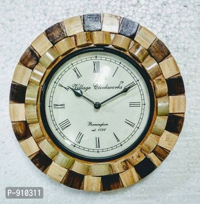 Designer Decorative Wooden Wall Clocks (10x10 inches)