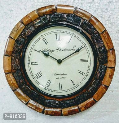 Designer Handmade Decorative Wooden Wall Clock (Size : 10x10 inches)