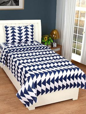 Cotton single bedsheet with1 pillow cover