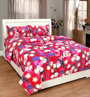 New production cotton double bedsheet with2 pillow covers