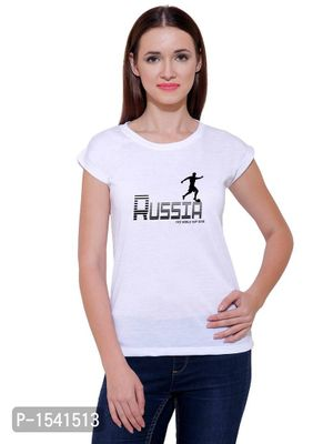 Russian Footbal Player Casual Printed White T-shirt