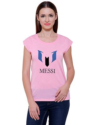New Design For Football Lover Casual Printed Pink T-shirt