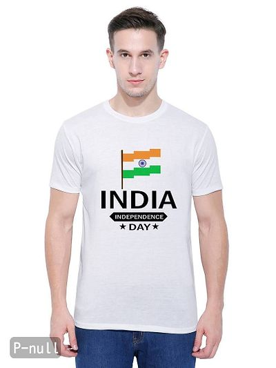 Indian Flag Casual White Printed T-Shirt