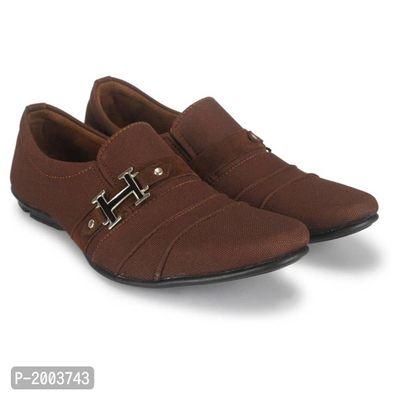 Brown Partywear Casual Shoes for Men