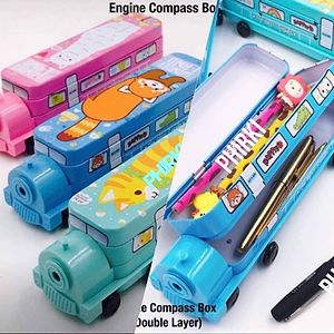 Wheels on the bus pencil box with sharpener