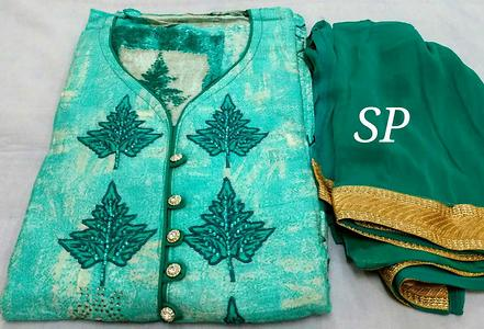 Top embroidery  with seroski  work