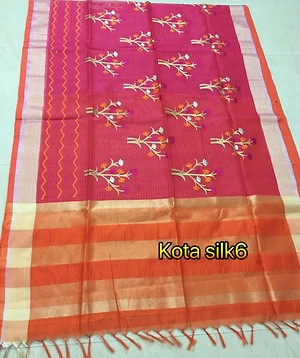 😍official party wear sarees with Kota silk collections 😍  Limited edition with unique design each saree