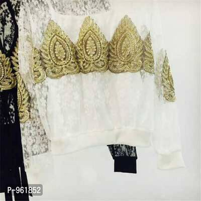 HR. F Beautiful Patch work Lace Top*