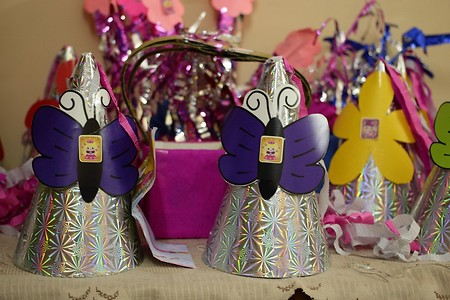 Creative party decor and give aways