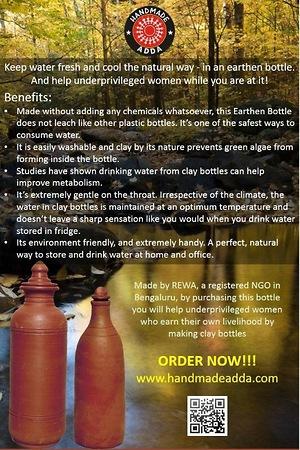 Terracotta Water Bottles
