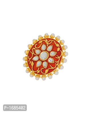 Red-Gold Pearl Ring