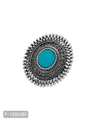 Tribal Circular Turquoise Accent Ring