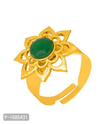 Lovely Sunflower Ring with Gold Plating