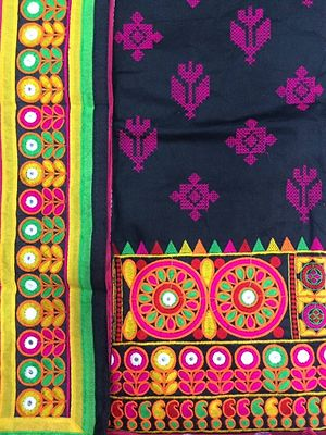 Black color top with famous Rabari embroidery