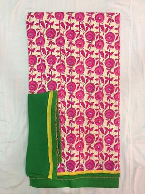 Printed dress material with Chiffon dupatta