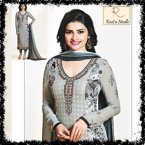 Georgette  and Crape Embroidered Dress Materials