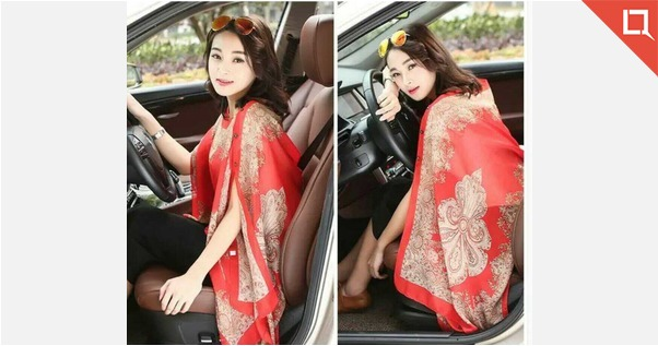 *🌷2 In 1 Summer Special🌷*  *Beautiful Printed Kaftan/Muffler*  👚Can wear Different Style💃💃💃💃  *Summer Special*  ☘Fabric-  Chiffon  Free size