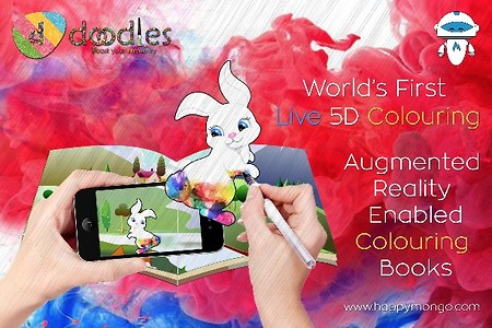 AR Live 5D Colouring books (pack of 4 books)