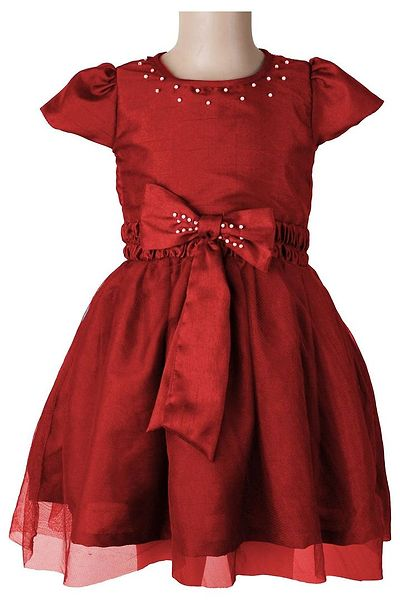 Red Embellished Partywear Dress
