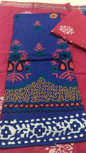 Wax Batik with hand embroidery