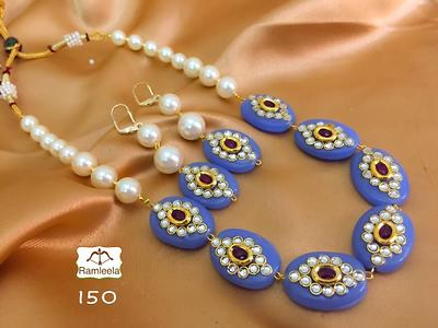 Beautiful beads necklace with earrings