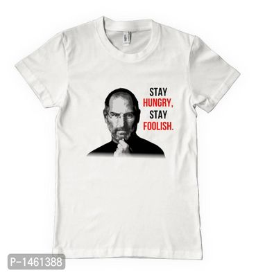 White Steve jobs quotes Printed Tees