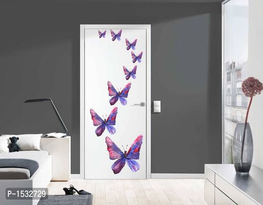 Multicoloured Bluish Butterfly' Wall Decal Sticker Vinyl Wall Stickers