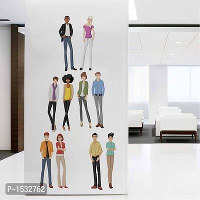 Multicoloured Different Ethnic People' Wall Decal Sticker Vinyl Wall Stickers
