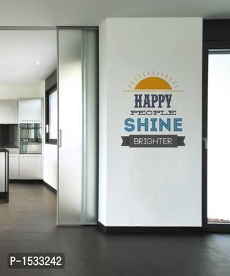Multicoloured Happe People Quote Vinyl Wall Stickers
