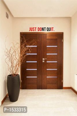 Multicoloured Motivational Quote : Just Don'T Quit Vinyl Wall Stickers