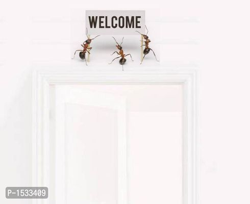 Multicoloured Welcome By Ants Vinyl Wall Stickers