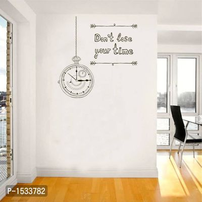 Multicoloured Don'T Lose Your Time Quote Vinyl Wall Stickers