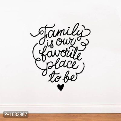 Multicoloured Family Is Our Favorile Place To Be Vinyl Wall Stickers