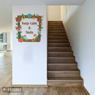 Multicoloured Keep Calm And Smile Vinyl Wall Stickers
