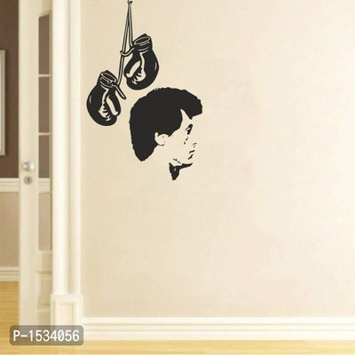 Multicoloured Sylvester Stallone'S Face Vinyl Wall Stickers