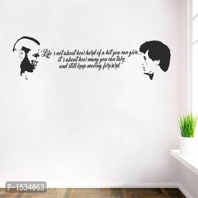Multicoloured Life'S Quotes Vinyl Wall Stickers