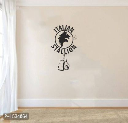 Multicoloured Italian Stallion Vinyl Wall Stickers