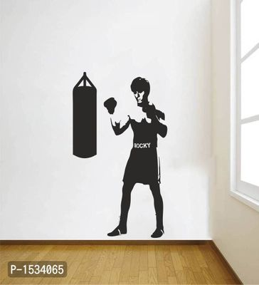 Multicoloured Rocky Boxing Vinyl Wall Stickers