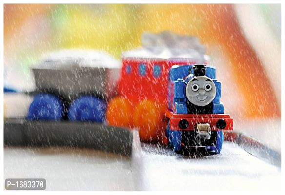 Multicoloured Toy Train Wallpaper Wall Poster