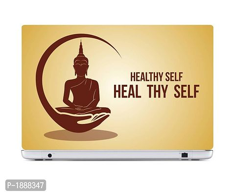 Healthy Self Heal Thy Self Laptop Skin Stickers