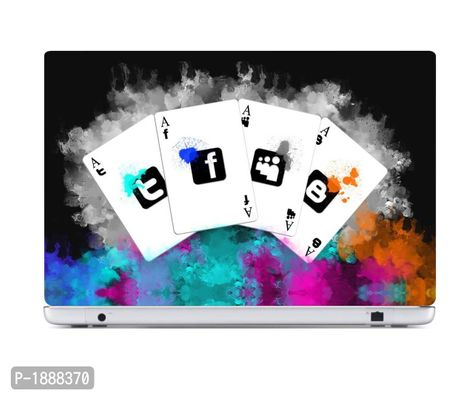 Social Meida Card Laptop Skin Stickers