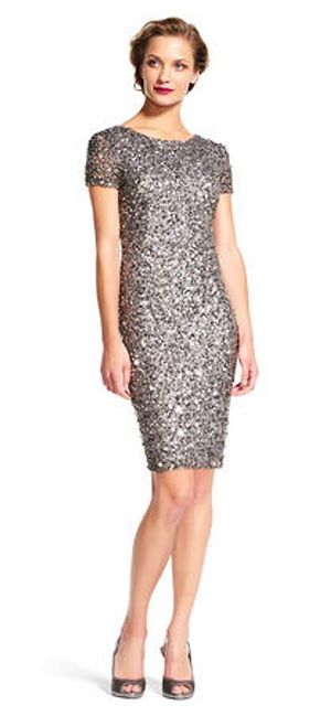 Adrianna Papell Beaded Cocktail Dress%>
