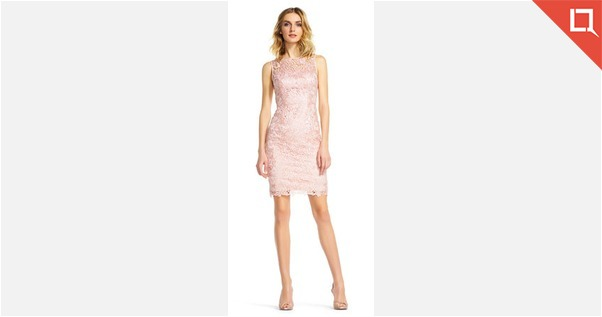 Adrianna Papell Baby Pink Party Wear