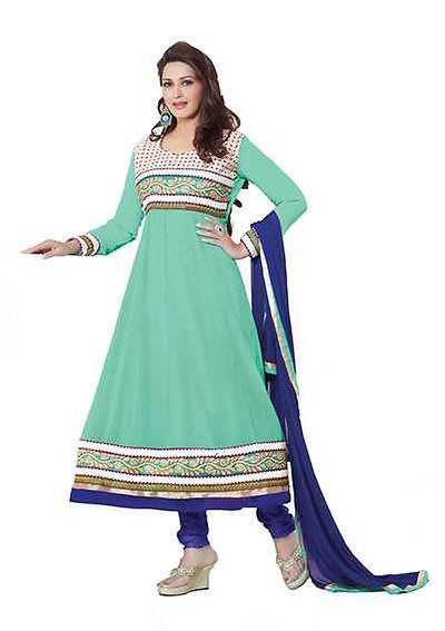Awesome Embrodried Georgette Anarkali Dress Material