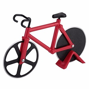 Bicycle Shaped Pizza Cutter Red