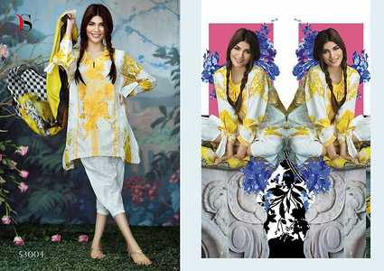 Cotton suits with embroidery work